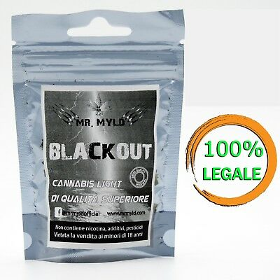 Cannabis Light Legale  Mr Myld Blackout  Canapa Sativa Made In Europe