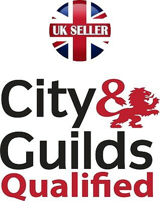 x 2  very nice City & Guilds decal stickers  red and black