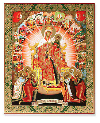 Russian Icon Madonna and Child Empress of Heaven 15 MAJOR FEASTS MARY QUEEN 15""
