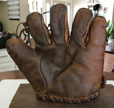 Marty Callaghan Stall & Dean Split Finger Vintage Baseball Glove Cubs And Reds