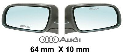 WING MIRROR DECALS STICKERS GRAPHICS x 3 IN SILVER / GREY ETCH