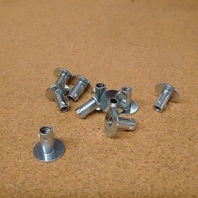 Weld Nut, Threaded Insert, Furniture Leg Insert, Glide Insert, 1/4-20, 10-Count