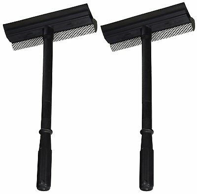 Window and Windshield Cleaning Sponge and Rubber Squeegee (2 Pack)