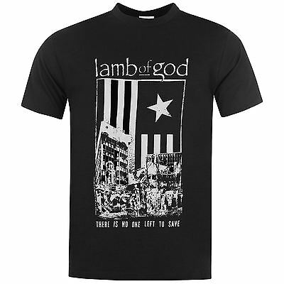 Lamb Of God There is No One Left To Save T-Shirt Mens Black Music Top Tee Shirt