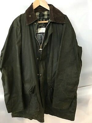 "Barbour Border Green Wax Jacket 44"" Chest"