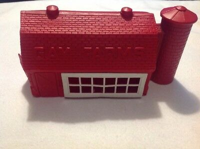 Vintage Red Plastic Gay Farms Toy Barn 1960's
