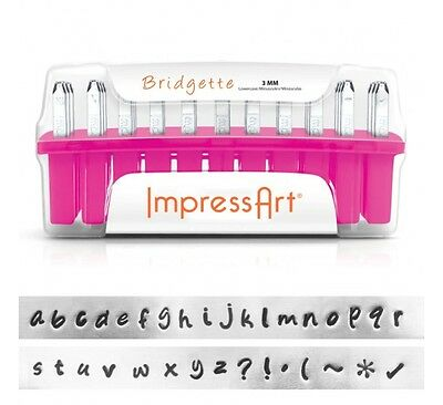 ImpressArt Bridgette Lowercase Letter Metal Stamps Punches Hand Stamping Kit 3mm