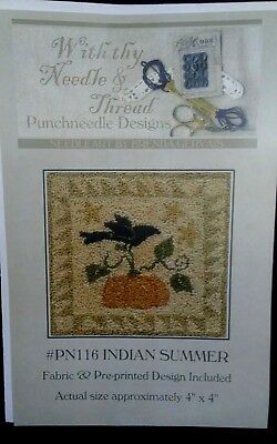 With Thy Needle & Thread, PN116, Indian Summer Punchneedle - Pattern Only - Used