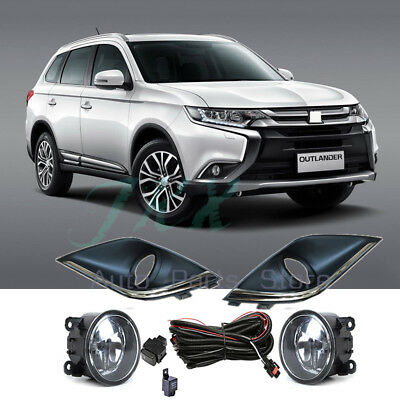 Bumper Fog Lamp Light W Wiring Switch Kit xenon halogen fog lights kit for 2018 mitsubishi outlander sport