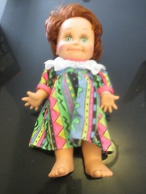 Galoob Baby Face~So Shy Sherry Poseable Doll~Red Hair & Green Eyes~1990 #9