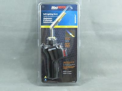 Brand New Mag Torch Self Lighting Torch with Silver Swirl and Trigger Button