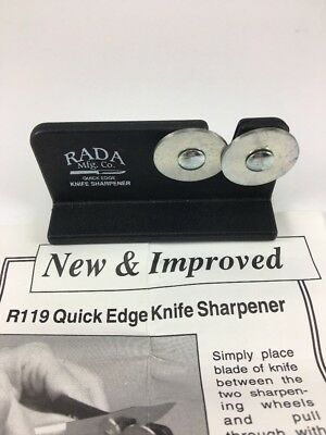 Knife Sharpeners Rada Cutlery Quick Edge Knife Sharpener with Hardened Steel for