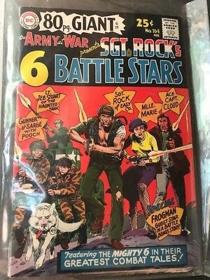 OUR ARMY at WAR #164 Sgt Rock's Battle Stars! DC Comic Book ~ VG