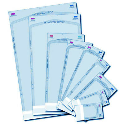 up to 5000 ALL SIZES Dual Indicators Self Seal Pouch Sterilization Bag Pouches