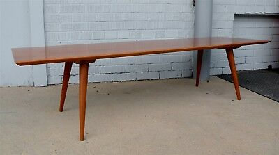 Mid-Century Paul McCobb Winchendon Planner Group Maple Bench Coffee Table