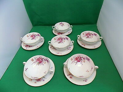 Tuscan China Fragrance Soup Cups & Saucers x 6