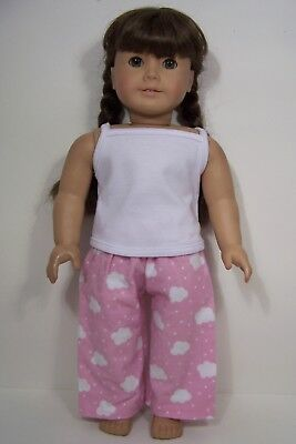 "Debs 2pc RED /& PINK Floral Pj/'s Pajamas Doll Clothes For 18/"" American Girl"