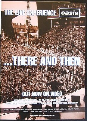 Oasis - ...There and Then - print ad from a 1996 magazine