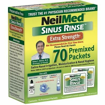 NeilMed Sinus Rinse EXTRA STRENGTH Premixed Packets - 70 Sachets Refill