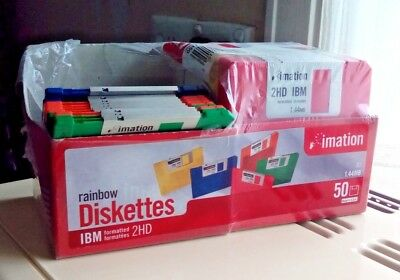 Imation 1.44Mb IBM Formatted 2HD Blank Floppy Diskettes Rainbow x35