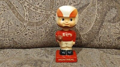 Scarce Early 1960s CFL Montreal Als Alouettes Bobble Head Bobblehead Nodder