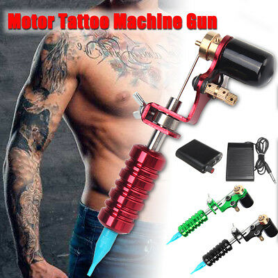 Powerful Rotary Motor Tattoo Machine Gun Kit With Power Supply Foot switch