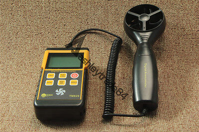 1PC TM826 Digital LCD Anemometer Wind Speed Velocity Meter Thermomoter Backlight