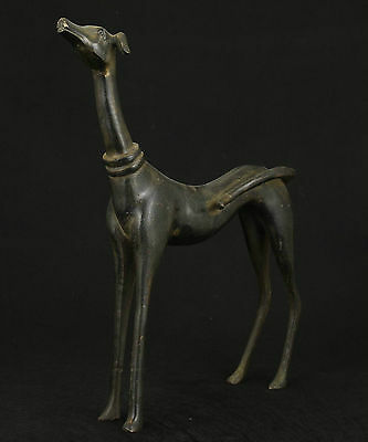 """9"""" Big Nice Chinese Old Bronze Collectable Handwork Carved Dog Statue Figure"""