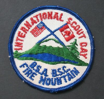 Boy Scouts Of America Bsa Canada Fire Mountain International Scout Day Flags