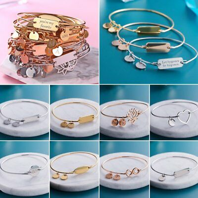 Personalized Stainless Steel Engrave Name Bar Custom Cuff Bangle Bracelet New