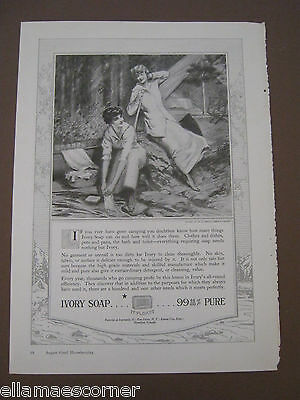 Vintage Ivory Soap 8 by 11 Ad From August 1917 Good Housekeeping