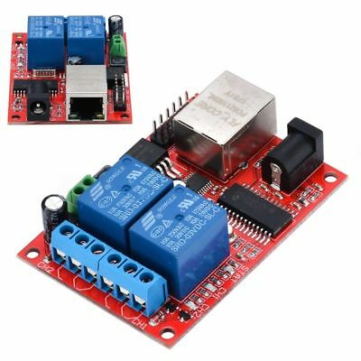 LAN Ethernet 2-way Relay Board Delay Switch TCP/UDP Controller Module WEB LOT NG