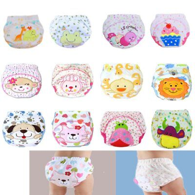 1Pcs Baby Training Pants Toddler Underwear Diaper Cloth Infant Potty Waterproof