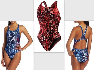 Speedo Splatter Splash Super Pro Women's One-Piece Swimsuit - PowerFLEX Fabric
