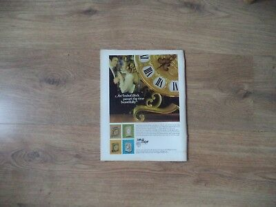 Imhof Swiss Clocks   Vintage Magazine Advert     6      9       N    O
