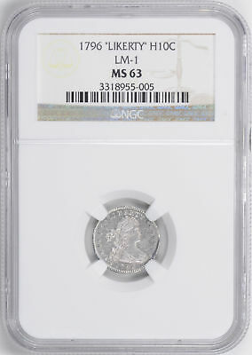 1796 Draped Bust H10C Ngc Ms 63