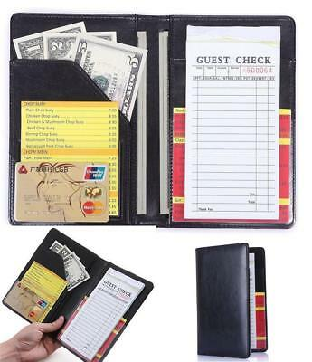 Waiter Bills Book Wallet Server Waitress Pads Restaurant Money Pocket Organizer