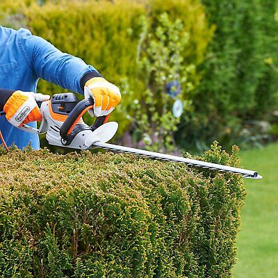Rotating Handle Electric Hedge Trimmer Bush Cutter 710W Power Protective Cover