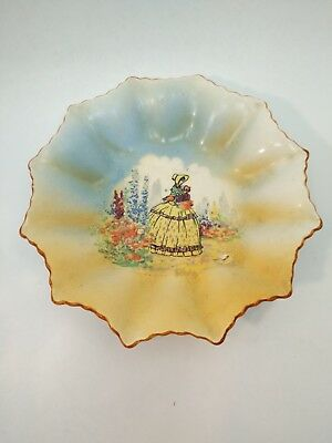 Vintage Made In  Occupied Japan Matsumura China Candy Dish Hand Painted
