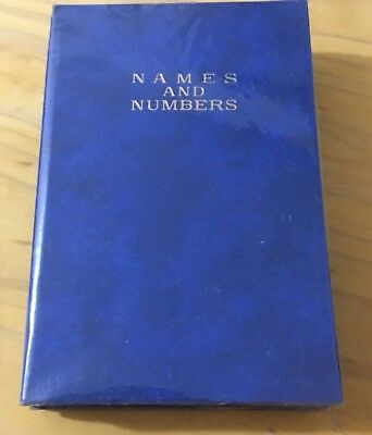 NEW Hardcover Address Book Blue  Clear  PVC Cover 13 x 19cm