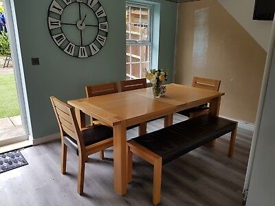 Marks And Spencer Sonoma Extending Dining Table Chairs Bench
