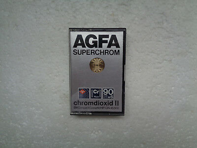 Vintage Audio Cassette AGFA Chromdioxid 90+6 From 1979 - Fantastic Condition !!