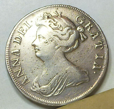 Great Britain Half Crown 1710 About Very Fine