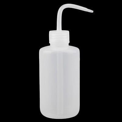 1pc Plastic 250ml Tattoo Wash Non-Spray Lab Squeeze Bottle With Measurement G9