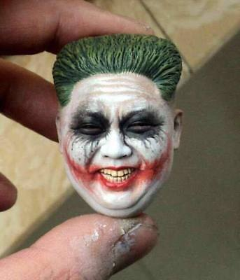 custom Joker batman 1/6 figure head pvc North Korea  ver fit hot toys body kim