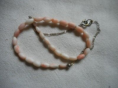 Vintage miniature angel skin coral necklaces,14""