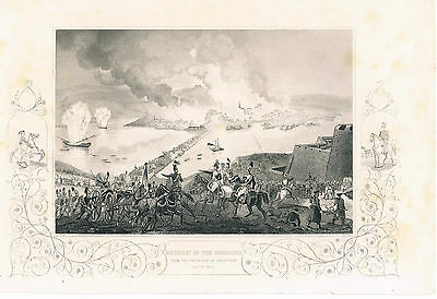 Engraving The Retreat Of The Russians From The South Side Of Sebastopol 1855