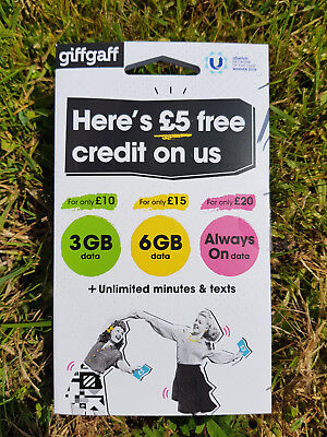 Giffgaff Giff Gaff SIM Card for Tracker, Smart watch, GSM, 2G, Pet Elderly