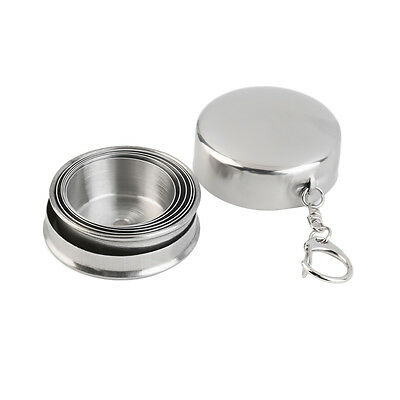 Portable Folding 75ml Stainless Steel Travel Outdoor Hiking Collapsible Cup GP