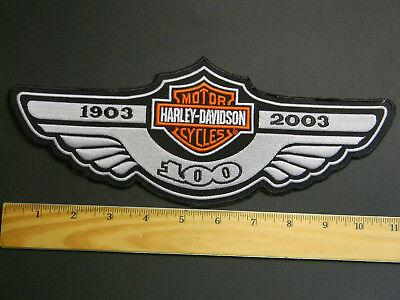 """Harley-Davidson 100th Year Anniversary Large Patch Brand New 10.25"""" X 4"""""""